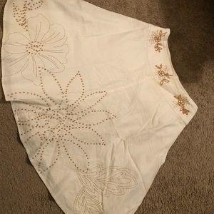 richard malcom Skirts - White embroider skirt